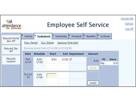 Employee Self Service | Employee Management Systems | Time
